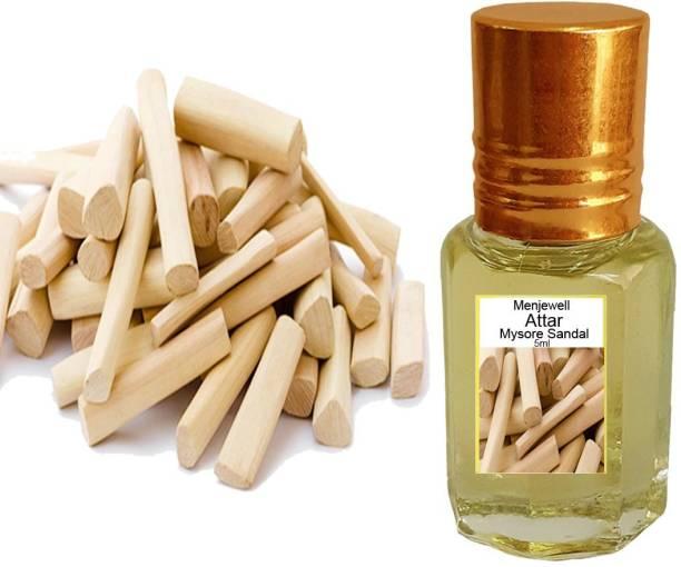 Menjewell fragrances Mysore Sandle (Natural Sandalwood Itra/Attar/Sandalwood Perfume) Floral Attar