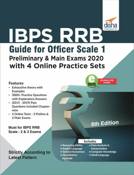 Ibps Rrb Guide for Officer Scale 1 Preliminary & Main Exams 2020 with 4 Online Practice Sets