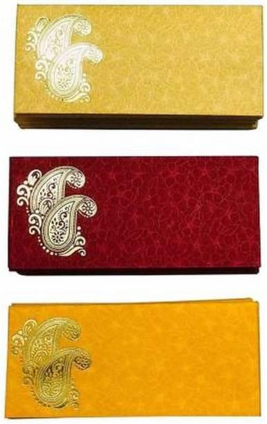 MOUSETRAPS Pack of 30 Shagun Double Ambi Motif Rectangle Shape Sagan Gift Envelopes for Weddings, Birthdays, Baby Shower, Anniversary Envelopes