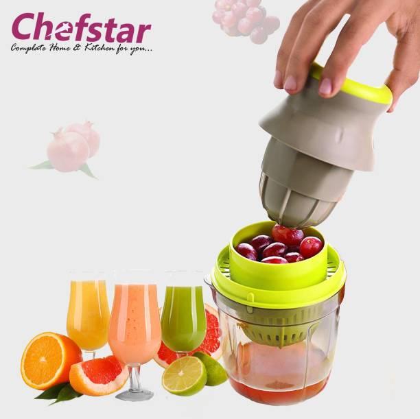 Chefstar Plastic Hand Juicer Plastic 2in1 Hand Juicer, Multicolour