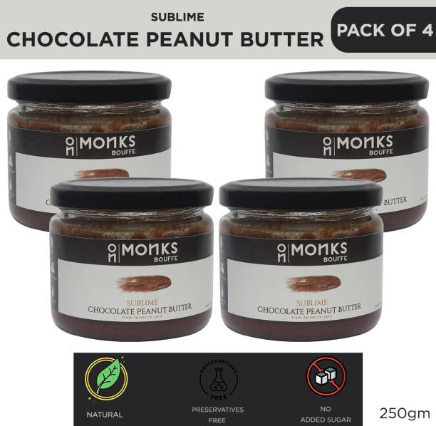 Monks Bouffe Sublime Chocolate Peanut Butter Pack of 4 250 g