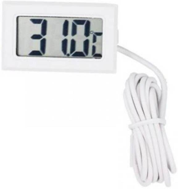 dinojames -50° to 110°C Digital Mini Fridge Thermometer Portable LCD Electronic Thermometer Temperature Meter with External Sensor Probe for Fridge Freezer Refrigerator Coolers Chillers Indoor Kitchen Cooking Instant Read Thermocouple Kitchen Thermometer Instant Read Thermocouple Kitchen Thermometer