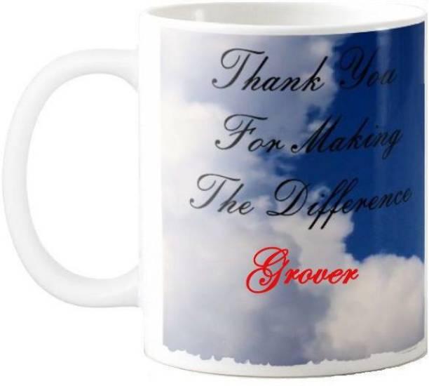 Exocticaa Grover Thank You 77 Ceramic Coffee Mug