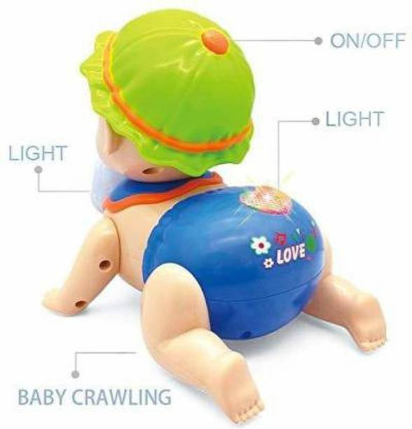 LooknlveSports Runing and Weeping Naughty Baby Crawling Toy with Music and 3D Lights