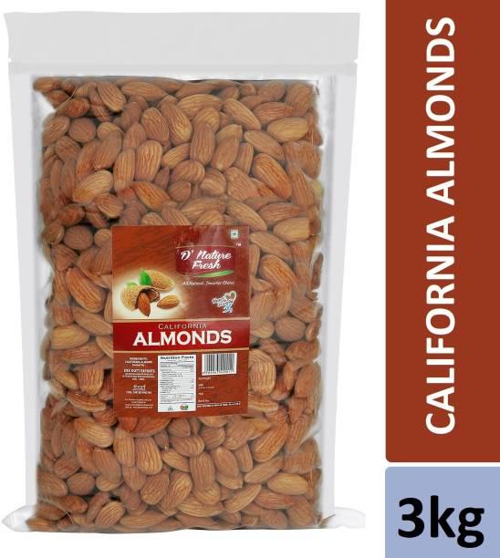 D NATURE FRESH California Almonds 3kg (3 Packs of 1kg) Almonds