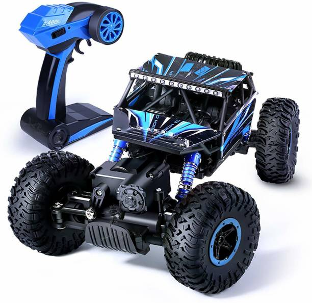 AVYUKT Rechargeable 4Wd 2.4GHz Rock Crawler Off Road R/C Car Monster Truck Kids Toys | Remote Control Cars for Kids