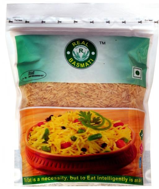 Real Basmati 1121 Golden Sella (Pack of 4 kg) Brown Basmati Rice (Long Grain, Boiled)
