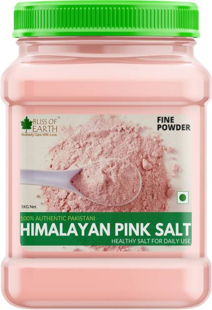 Bliss of Earth 1KG Authentic Pakistani Fine Powdered Himalayan Pink Salt for Healthy Cooking Himalayan Pink Salt