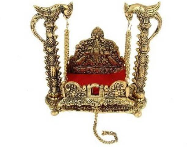 WELLWISHERS CRAFT Metal Krishna Jhula, Laddu Gopal Jhula, For Home And Office Jhula Decorative Showpiece  -  16.5 cm