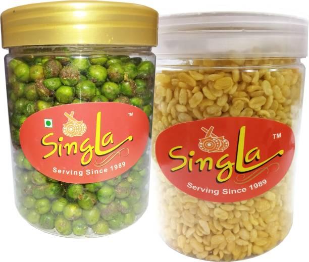 Singla Hara matar moong dal of combo pack of each 200g