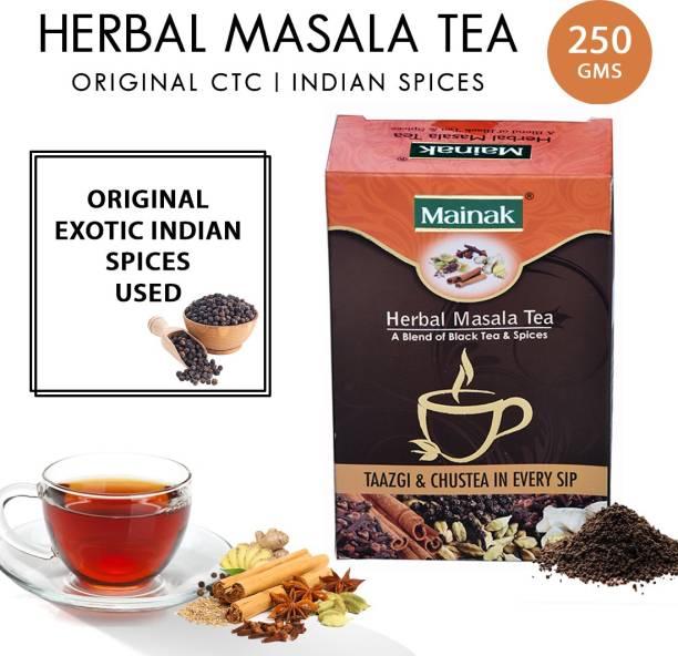 Mainak Herbal Masala with Indian Spices Black Tea Box