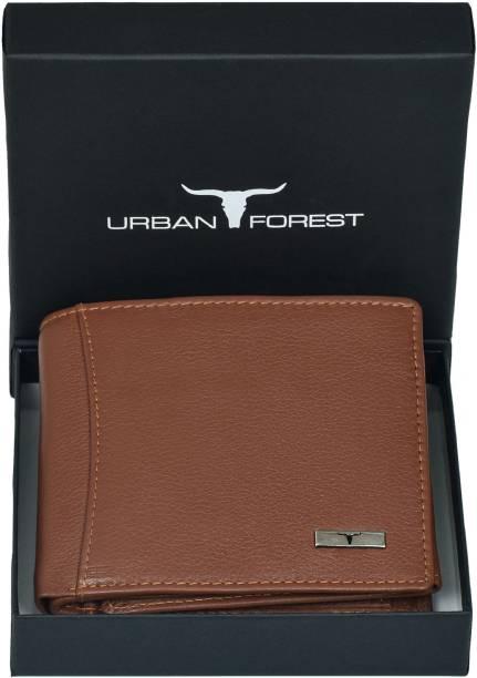 URBAN FOREST Men Tan Genuine Leather Wallet