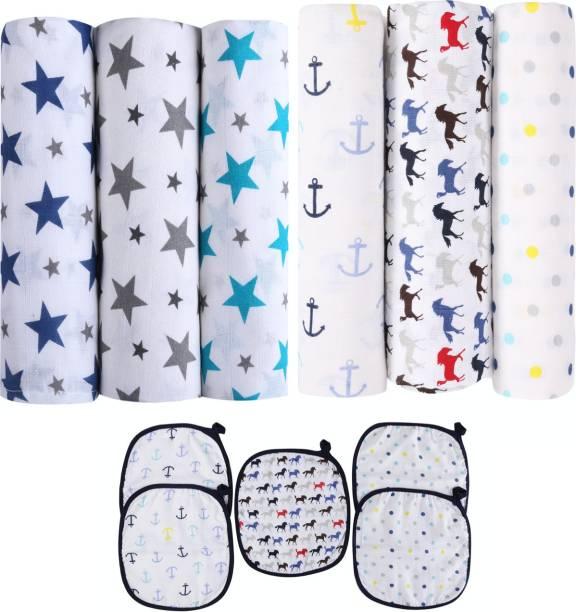 haus & kinder Printed Crib Swaddling Baby Blanket