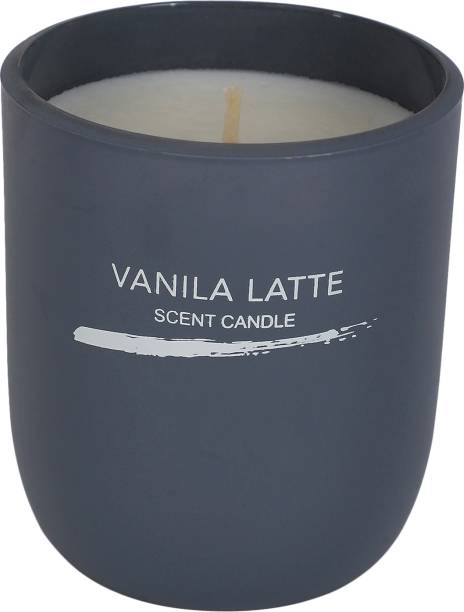 MINISO Inkjet Series Scented Candle Vanila Latte Grey Stress Relief Candle