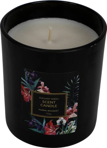 MINISO Elegant Series Scented Candle Floral Bouquet Black Candle