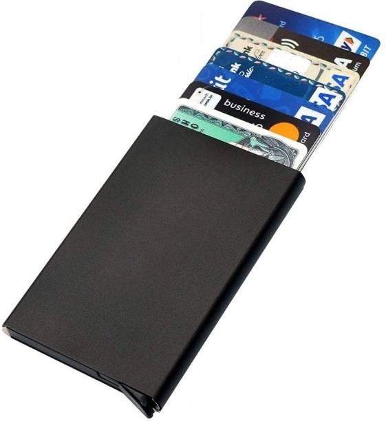 Giftana RFID Card Holder Slim RFID Blocking Credit Card Holders Wallet Case Stainless Steel Aluminum Metal Holder for Men & Women Pop Up 6 Card Holder