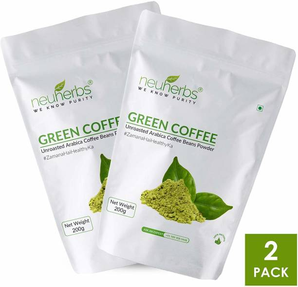 Neuherbs Organic Green Coffee Beans Powder for Weight Loss Management (Pack of 2) Instant Coffee