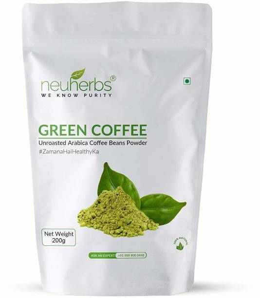 Neuherbs Green Coffee Beans Powder for Weight Loss Management Instant Coffee
