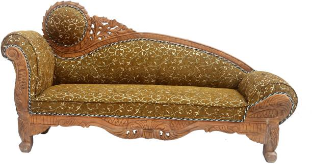 C.K.Handicrafts Diwan sets solid wood diwan diwan sofa set wooden sofa diwan set diwan sofa Sheesham Wood 3 Seater Diwan Sofa Set with Cushion for Living Room(Finish Color -Honey Finish, Pre-assembled) Solid Wood Diwan