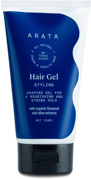 ARATA Natural Hair Gel for Studio Styling, Shaping, Strong Hold & Nourishment Hair Gel