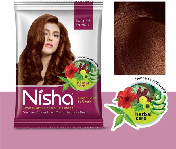 Nisha Hair Color Henna Based Hair Powder Dye For Hair Coloring 30gm each pack (Pack of 12)