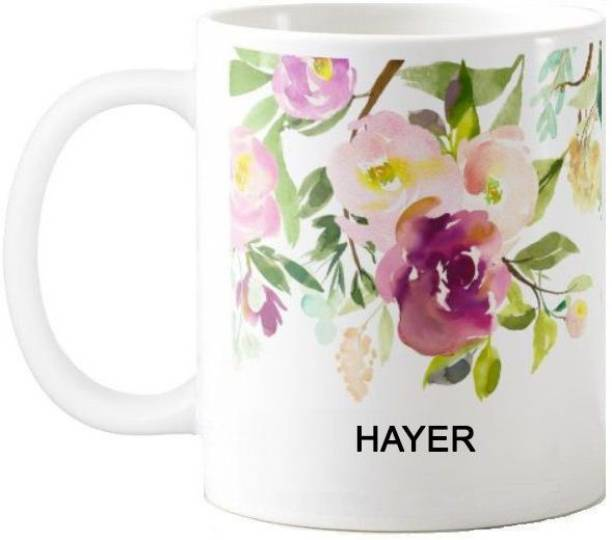 Exoctic Silver Hayer Water Color Print 76 Ceramic Coffee Mug