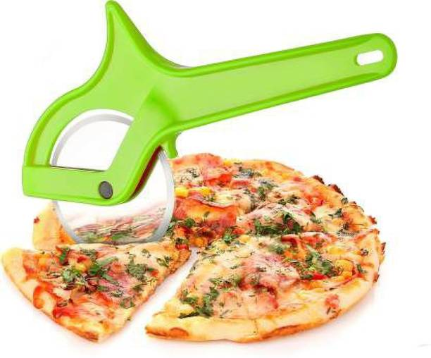 ShoppoWorld Professional Pizza/Sandwich/Burger Cutter Stainless Steel Wheel Blade with Plastic Finger Safe Handle Wheel Pizza Cutter