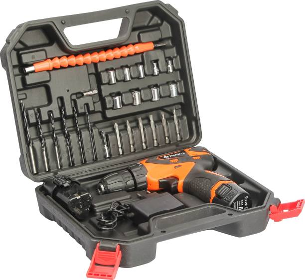 BUILDSKILL 12V Li-ion Cordless Drill with Reversible Function with 27 pieces Power & Hand Tool Kit