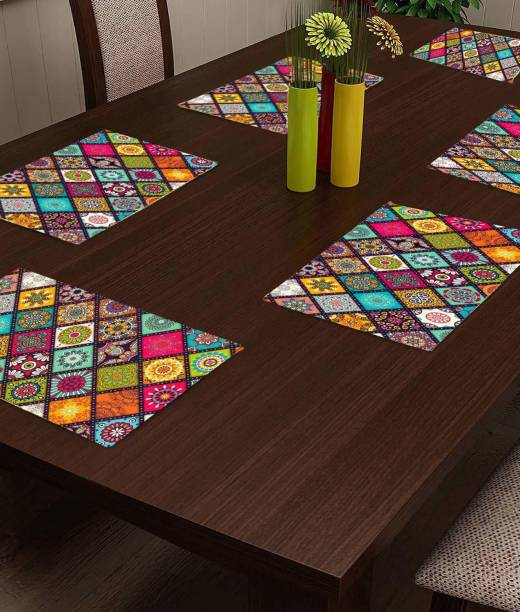 Arpan Industries Rectangular Pack of 6 Table Placemat
