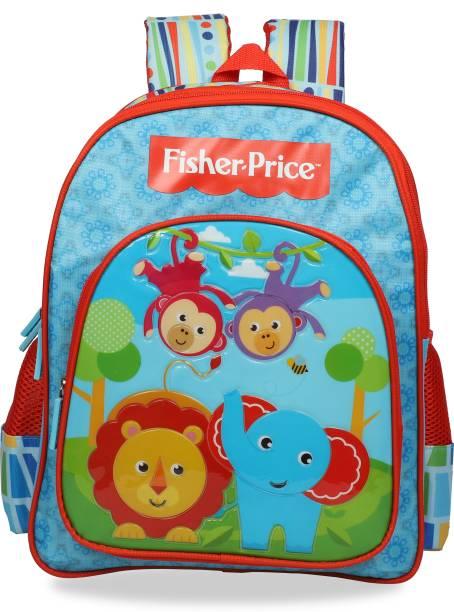 FISHER-PRICE Pre-School Blue & Red (LKG/UKG/1st std) School Bag