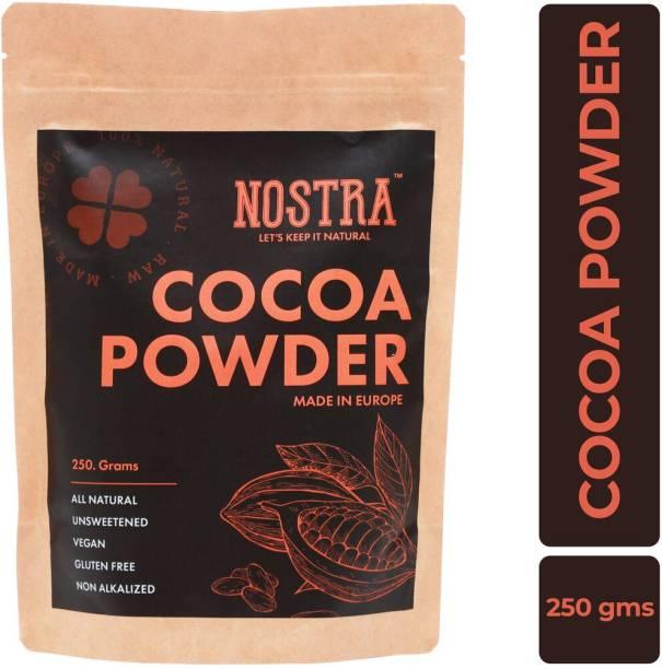 Nostra Natural Cocoa Powder, 250gm [Unsweetened, Non-Alkalized] Cocoa Powder