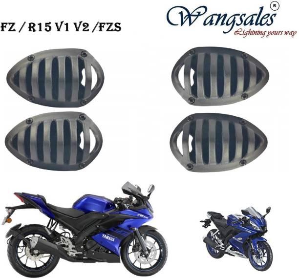 Wangsales V3 01 BLACK COVER GRILL INDICATOR 01 Bike Headlight Grill