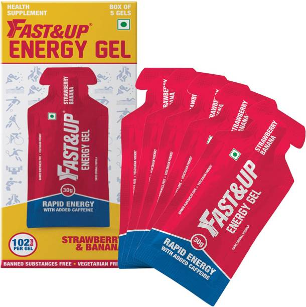 Fast&Up Energy Gel With Added Caffeine,Electrolytes,Maltodextrin,Vegan,Gluten-Free-102kcal Energy Drink