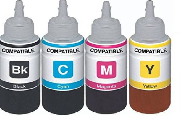 Forcejet Refill Ink For Use In HP DesignJet 100 / 100 Plus 110, Business InkJet 1000 / 1100 Printers Compatible With HP 10 / C4844A & HP 11 / C4836A / 37A / 38A - Cyan, Magenta,Yellow & Black - 100 ML Each Bottle Black + Tri Color Combo Pack Black + Tri Color Combo Pack Ink Bottle