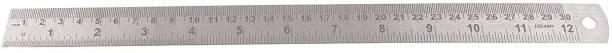 "Happie Shopping Steel Scale/Ruler 1 Foot (30 cm/ 12"") (Set of 3 Pcs.) Ruler"