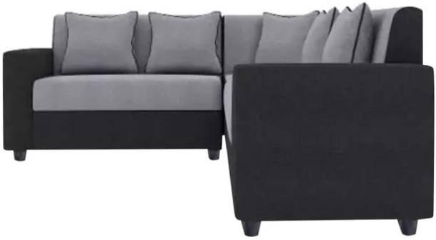 CasaStyle CasaLiving 6 Seater Corner Sofa (Grey-Black) Fabric 6 Seater  Sofa