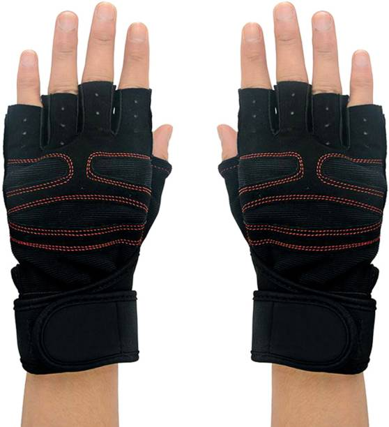 Addmax Mountain Bike Gloves for Cycling Riding Gym Exercise - Half Finger Sports Gloves Cycling Gloves