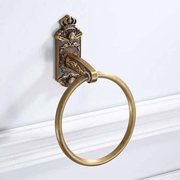 imPULSE Antique Aluminium Towel Ring/Napkin Holder/Hanger/Bathroom Accessories (Color - Brass) Brass Towel Holder