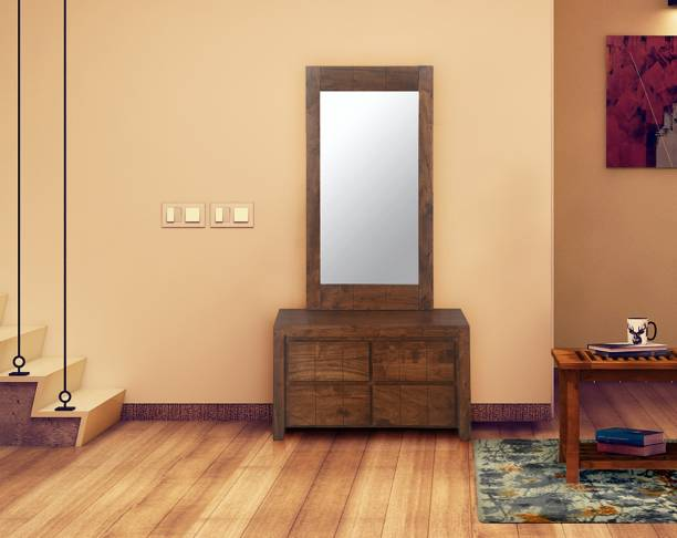 @Home by nilkamal Amelia Solid Wood Dressing Table