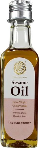 The Pure Story 100% Pure Cold Pressed Sesame Oil Glass Bottle