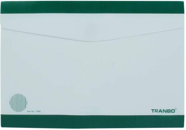 TRANBO Plastic Legal FC File Folder Document Organizer, Pack of 1, Green