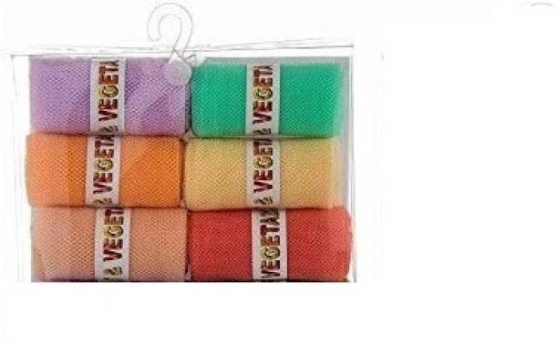 INCPIXEL Fridge Vegetable and Fruit Reusable Net Bag Pack of 6 Grocery Bags