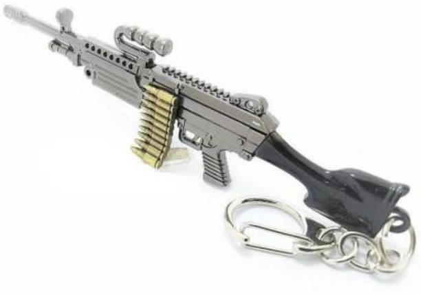 MASHKI PUBG THEME PREMIUM KEY CHAIN AWM M249 Sniper Gun Keychain for gift for boys / Player Unknown Battle Ground PUBG Key chain Key Chain