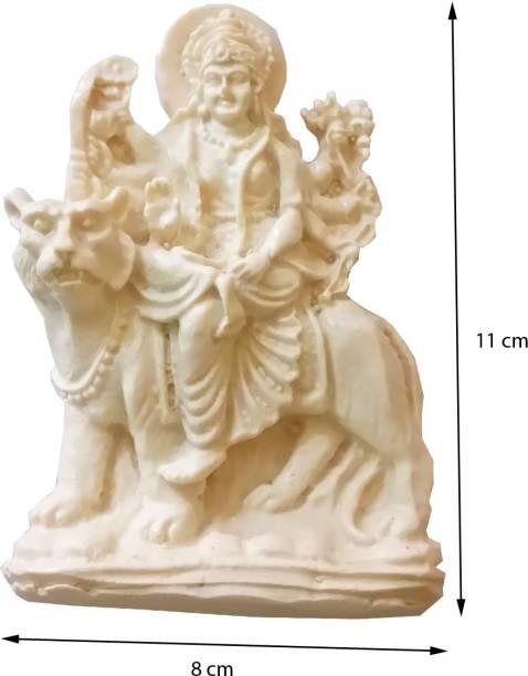 salvusappsolutions Maa Durga Beautiful Hand Crafted Marble Dust (Marble Powder) Hindu Goddess Statue Size(cm) 11x8 Decorative Showpiece  -  11 cm