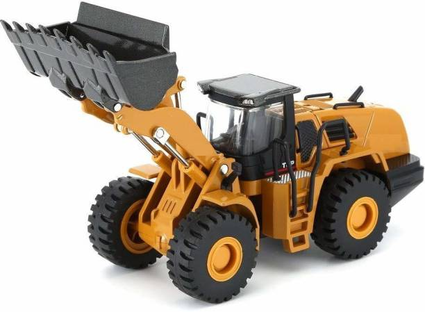 DEUSON ECOM Construction Trucks Rotate by 180 Degree JCB Toy Loader JCB Toy and Excavator Vehicle Engineering Toy for 3 Years and Above Age Toddlers ,High Speed Friction Excavator