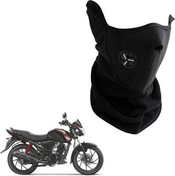 Buyra Black Bike Face Mask for Men & Women