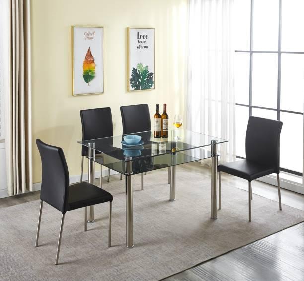 KRIJEN Hector Metal 4 Seater Dining Set
