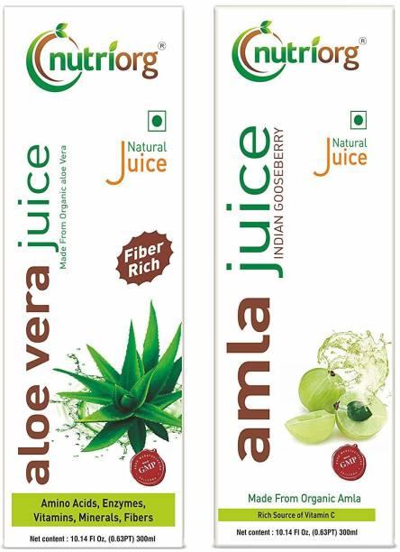 Nutriorg Amla/Aloevera Juice (Detox Pack)