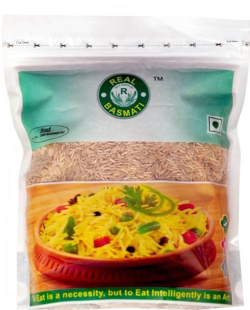 Real Basmati (Pack of 10) Brown Brown Basmati Rice (Long Grain, Unpolished)