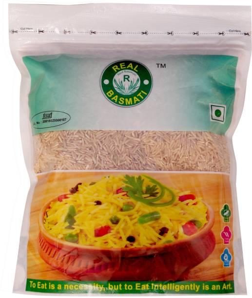 Real Basmati (Pack of 10) Natural Brown Rice (Medium Grain, Unpolished)